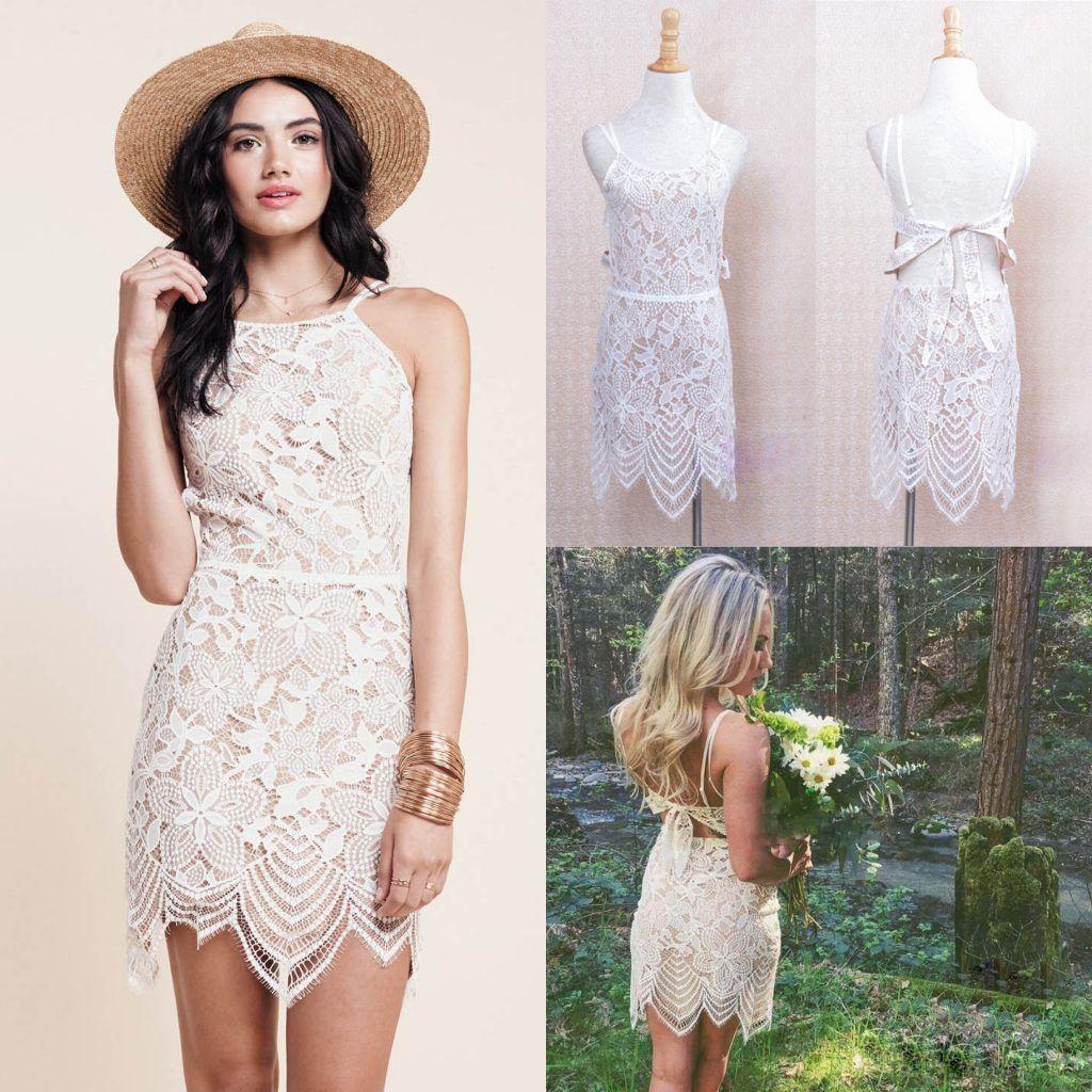 2017 Cheap Short Lace Club Dresses Sleeveless Jewel Neck Backless ...