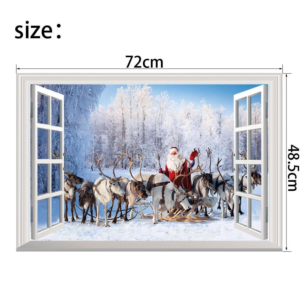 New 3D Christmas Window Wall Stickers Santa Claus Gift Festival Murals  Wallpape And New Christmas Wall Stickers 3D Window Christmas Wall Stickers  Santa ... Part 82