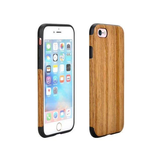 Wood Grain TPU Cell Phone Case Apple Iphone7, Iphone7plus, Protective Cover
