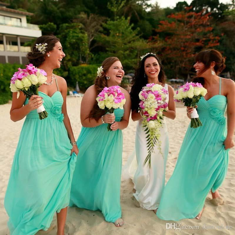 Beach bridesmaid dresses 2016 mint green sexy halter for Green beach wedding dresses