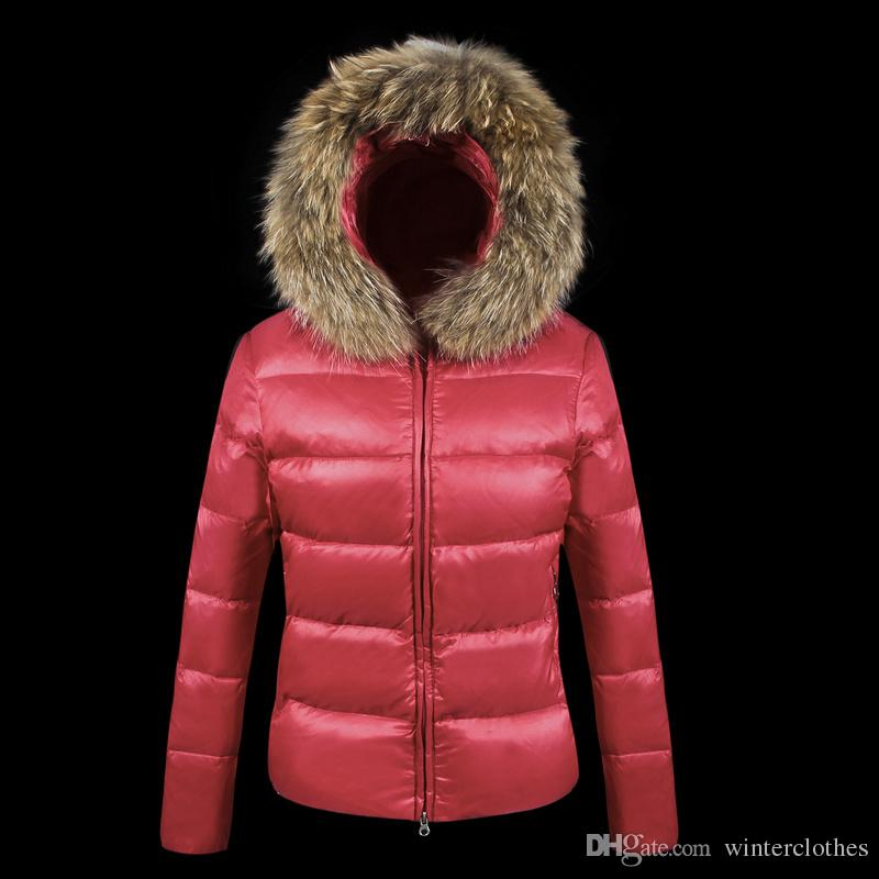 2016 Winter 100% Down Jacket For Women Top Brand With Real Fur ...