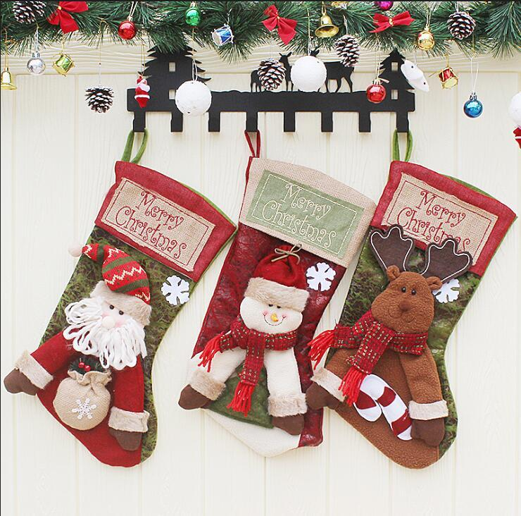 christmas tree decorations childrens large christmas socks shopping malls window ornaments christmas decorations gifts bags 2018 wholesale christmas tree - Christmas Tree Bags