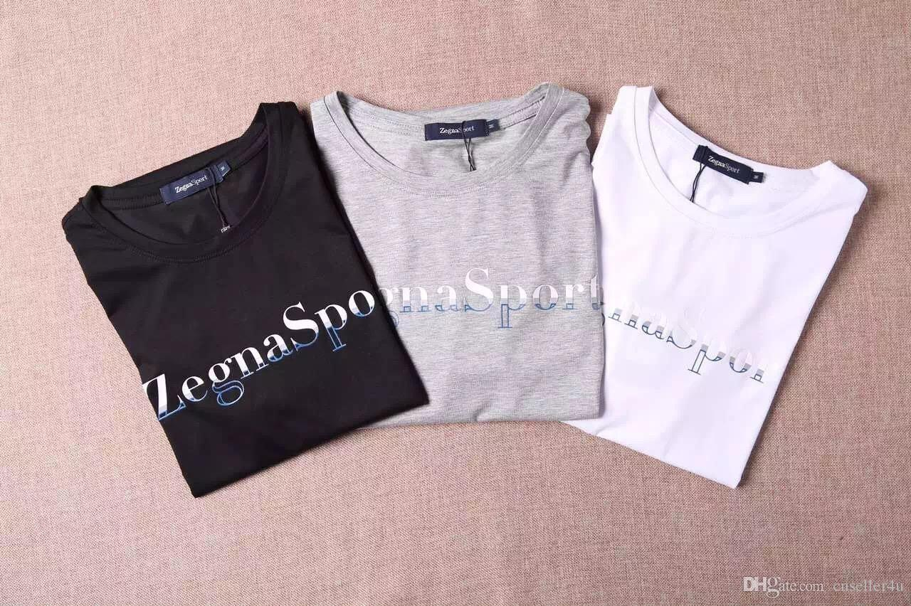 2016 wholesale quality zegna t shirts mens hip hop Bulk quality t shirts