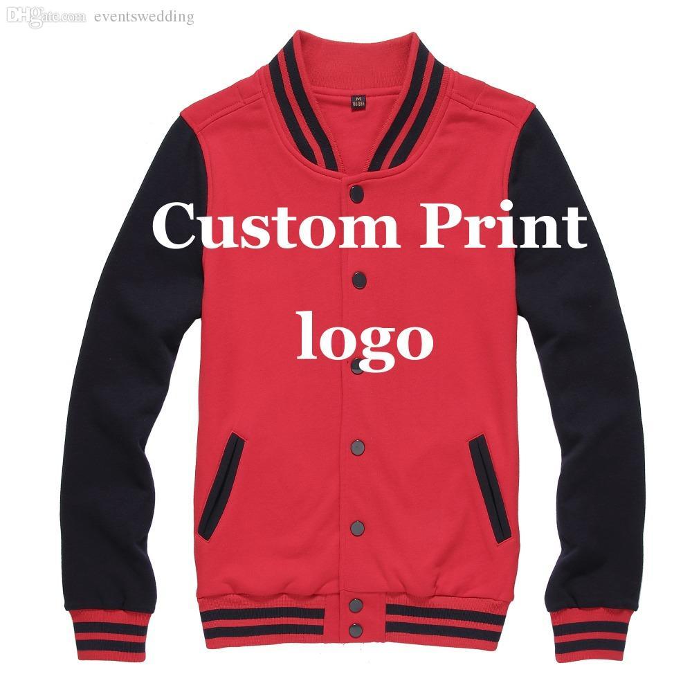 Fall Custom Baseball Jacket Print Customized Printing Logo Creat ...