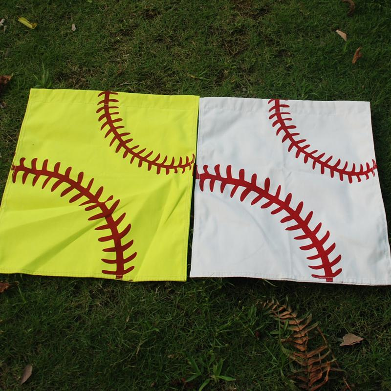 Wholesale Blanks Baseball Softball Garden Flags Cotton