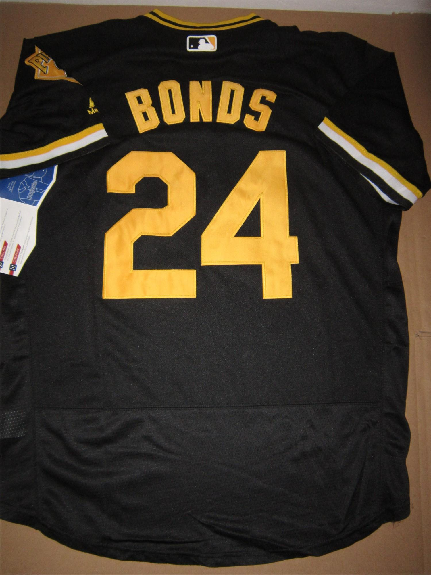 2016 Pittsburgh Pirates Jersey Hommes 24 Barry Bonds Pullover noir Cooperstown C