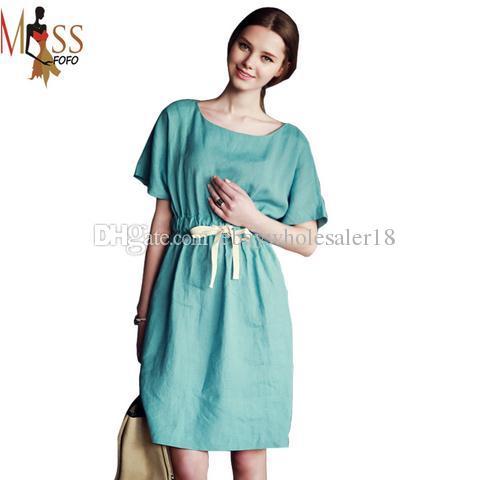 2017 2016 New Summer Fashion Celebrity Casual Dress Women&-39-S Linen ...