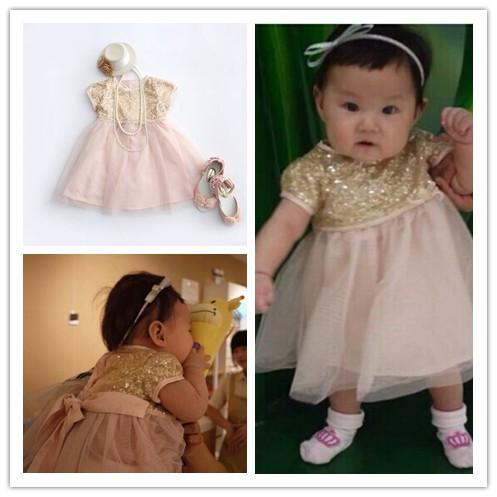 2017 Newborn Dress 2016 New 6m 2y Toddler Girl Clothing Sequins ...