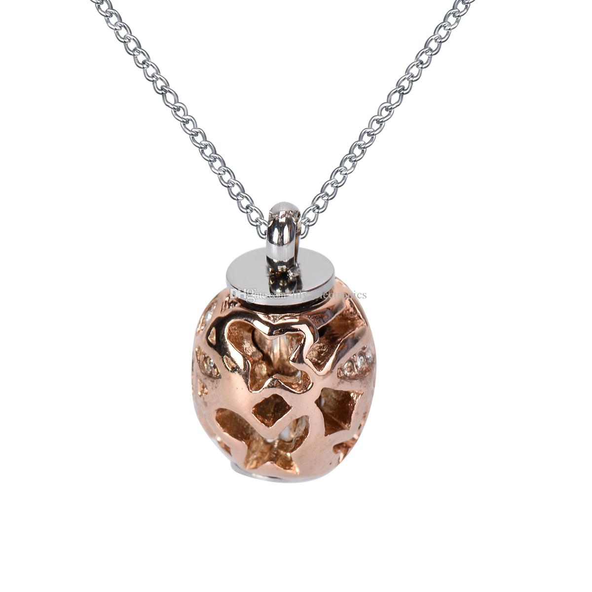 Wholesale lily cremation urn necklace rose gold hollow for Bulk jewelry chain canada