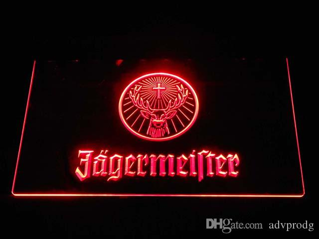 tm7126 Jagermeister Vodka LED Neon Sign Bar Decor bière Livraison gratuite Drops