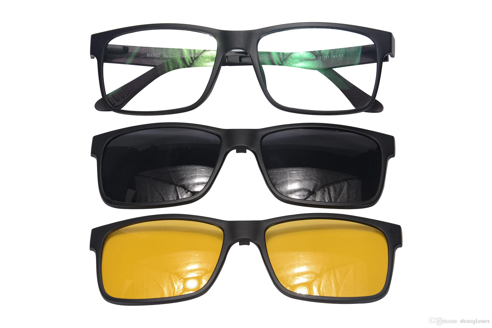 Sports frames for eyeglasses - Shinu Double Clips On Polarized Sunglasses Driving Cycling Sports Glasses Frames Sh77002