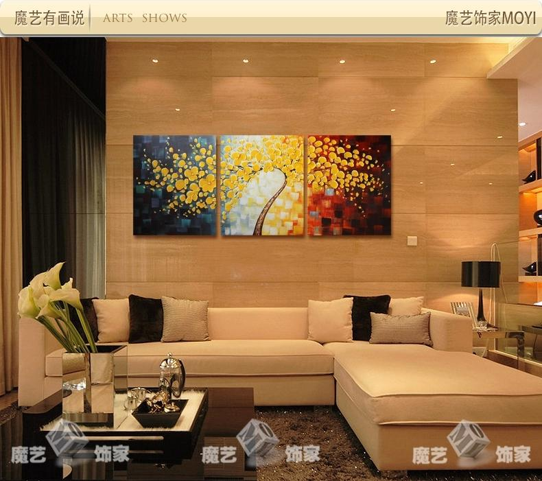2017 3 Panels Wall Art Picture Hand Painted Modern Art Decorative Paintings Flower Palette Knife Oil Painting Canvas For Home Decor From Fast Kin