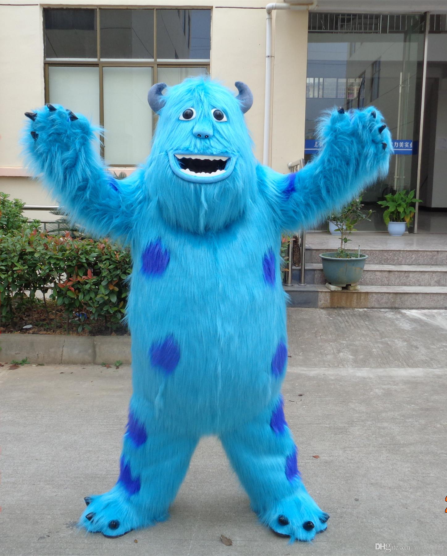 Quality Sully Mascot Costume Suit Monsters University Fancy Dress Outfits Cartoon Character ...