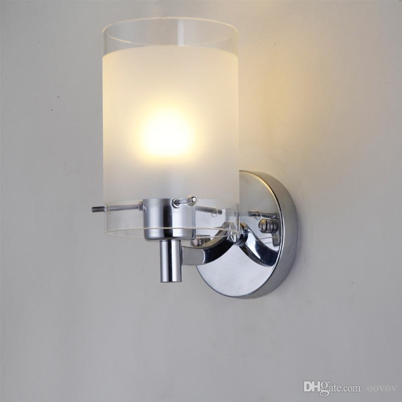 Modern Simple Glass Hallway Wall Sconces Fashion Bedroom Bedsides ...