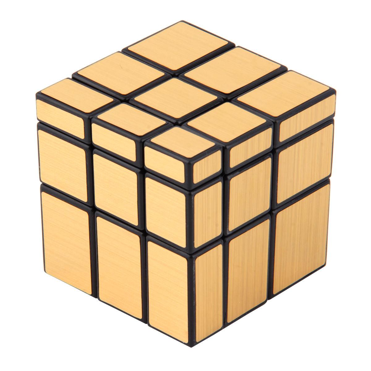 shengshou mirror magic cube golden mirror cube black body with golden stickers and black body. Black Bedroom Furniture Sets. Home Design Ideas