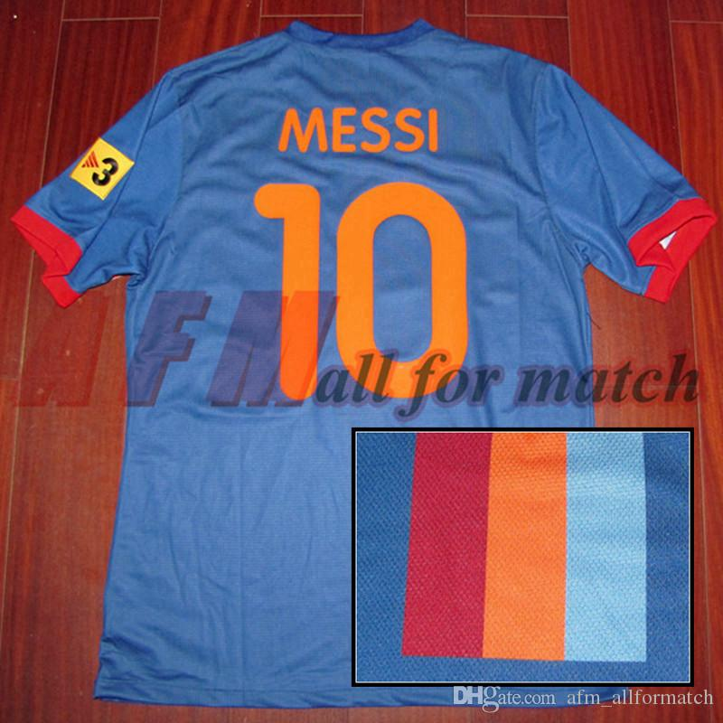 Rare Gamper Trophy 2009 Match Worn Player Issue S / S Messi Iniesta Ibrahimovic