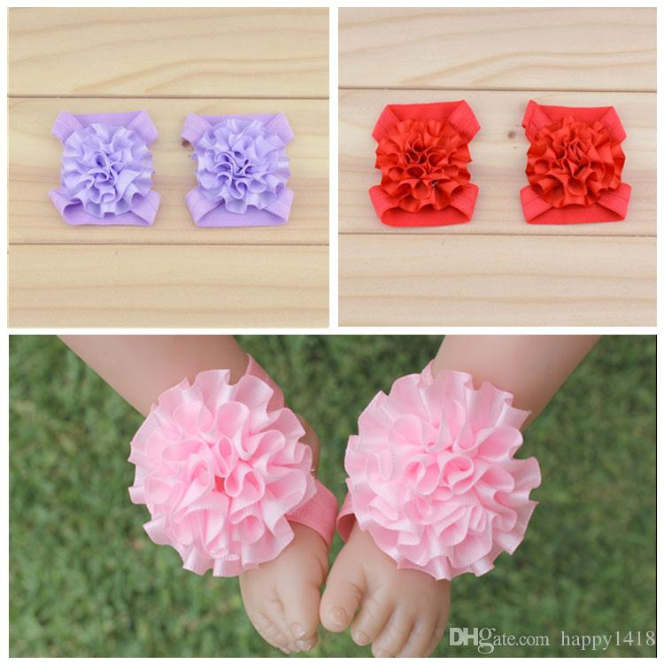 how to make baby sandals with ribbon