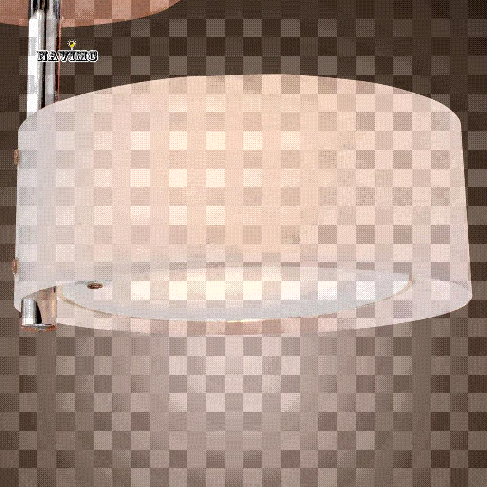 Online Cheap White Modern Led Ceiling Light Flush Mount Lights Polish Acrylic Round Bedroom