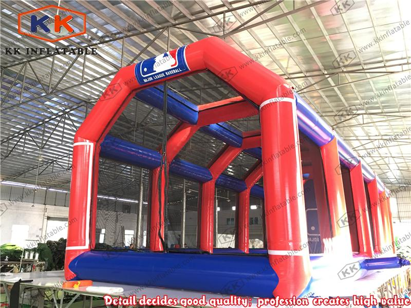 Cheap inflatable baseball cage large inflatable batting for Cheap c c cages