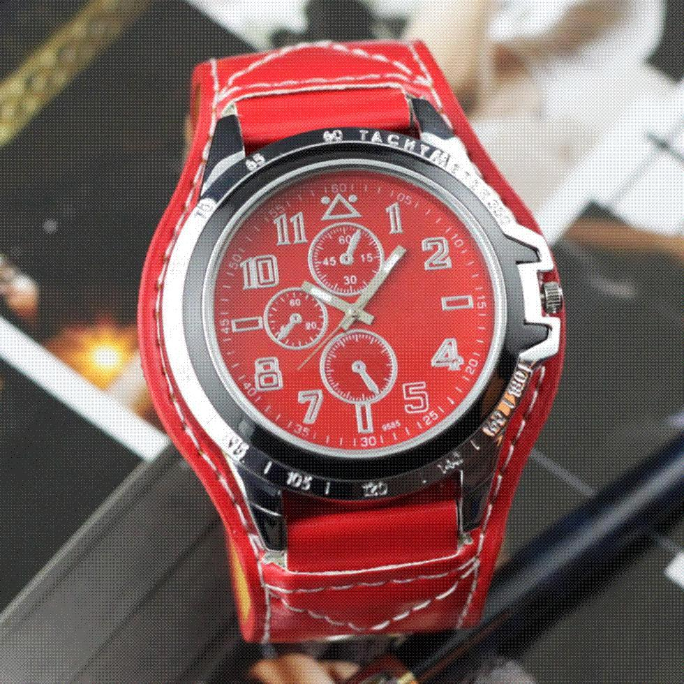 car accurate red men s fashion sports big watch face round car accurate red men s fashion sports big watch face round synthetic leather watch casual watches