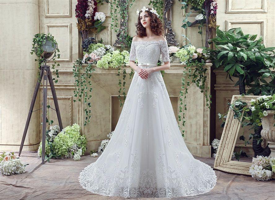 Vintage Wedding Dress Ca : Discount beading applique vintage wedding dresses