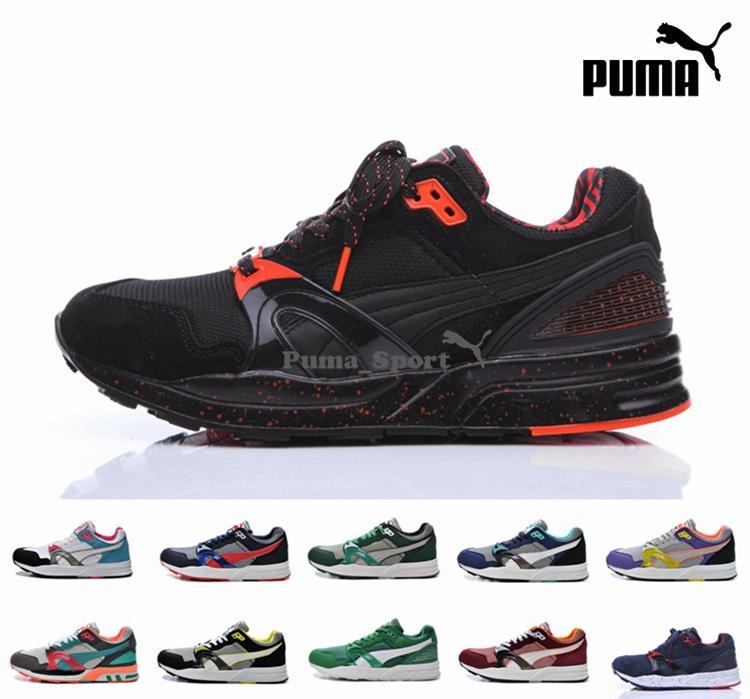 Shoes Puma Trinomic XT2 Plus Black Orange Mens 2016