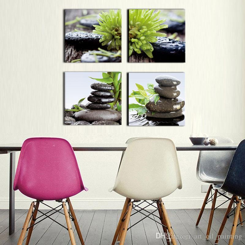 Spa Wall Art wall art spa stone tower and near the bamboo leaf picture print on