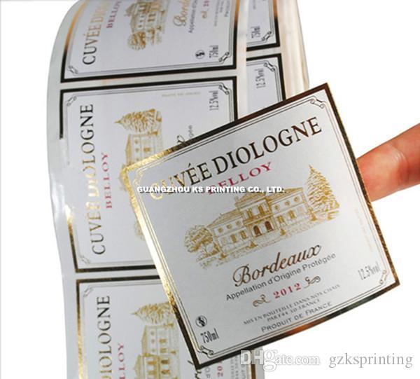 Custom Labelsstickers For Wine Glass Bottle Labelsstickers - Custom printed stickers cheap