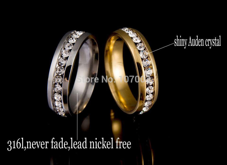 Never fade 18k gold plated 316l stainless steel ring for Does gold plated jewelry fade