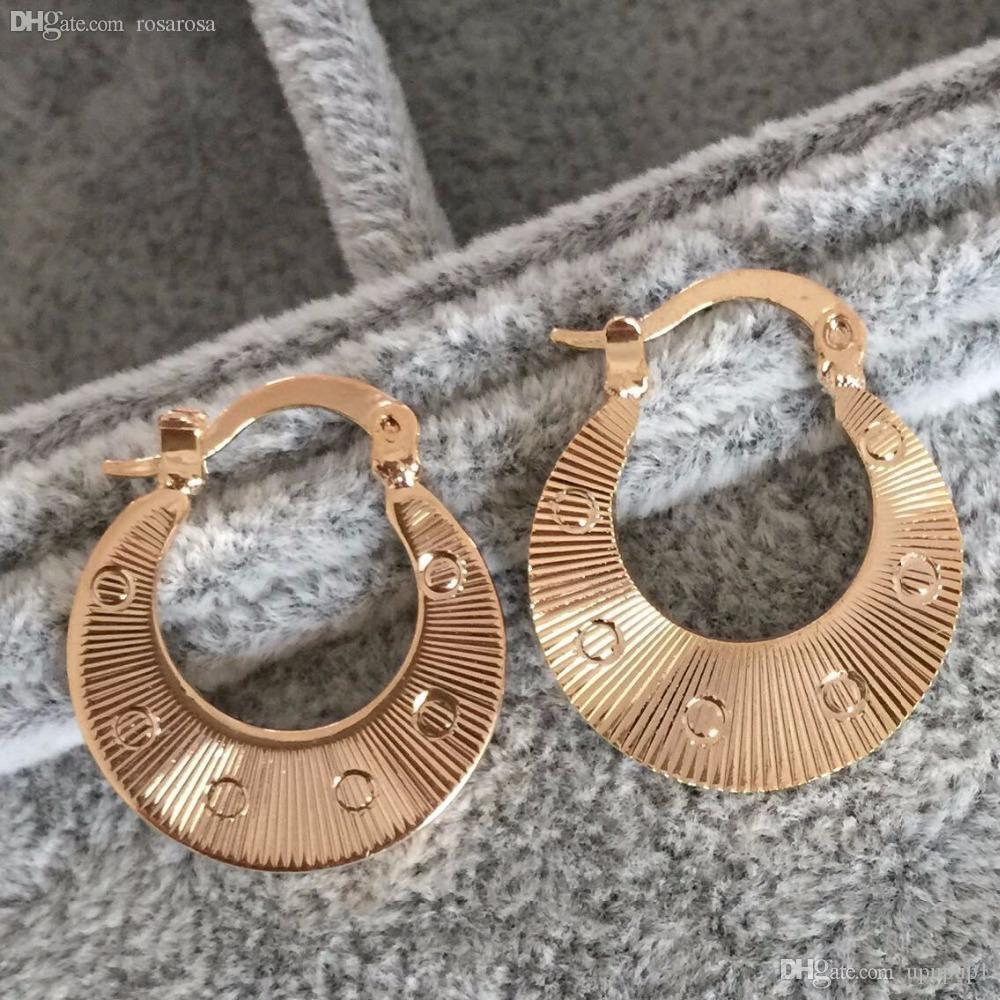 Discount Wholesale Vintage Basketball Wives Earrings 18k Rose Gold Filled  Small Hoop Earrings Loop Earrings For Women From China  Dhgate