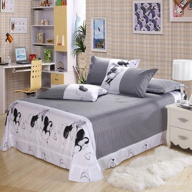 100 Cotton 3d Kissing Mickey Minnie Mouse Bedding Sets
