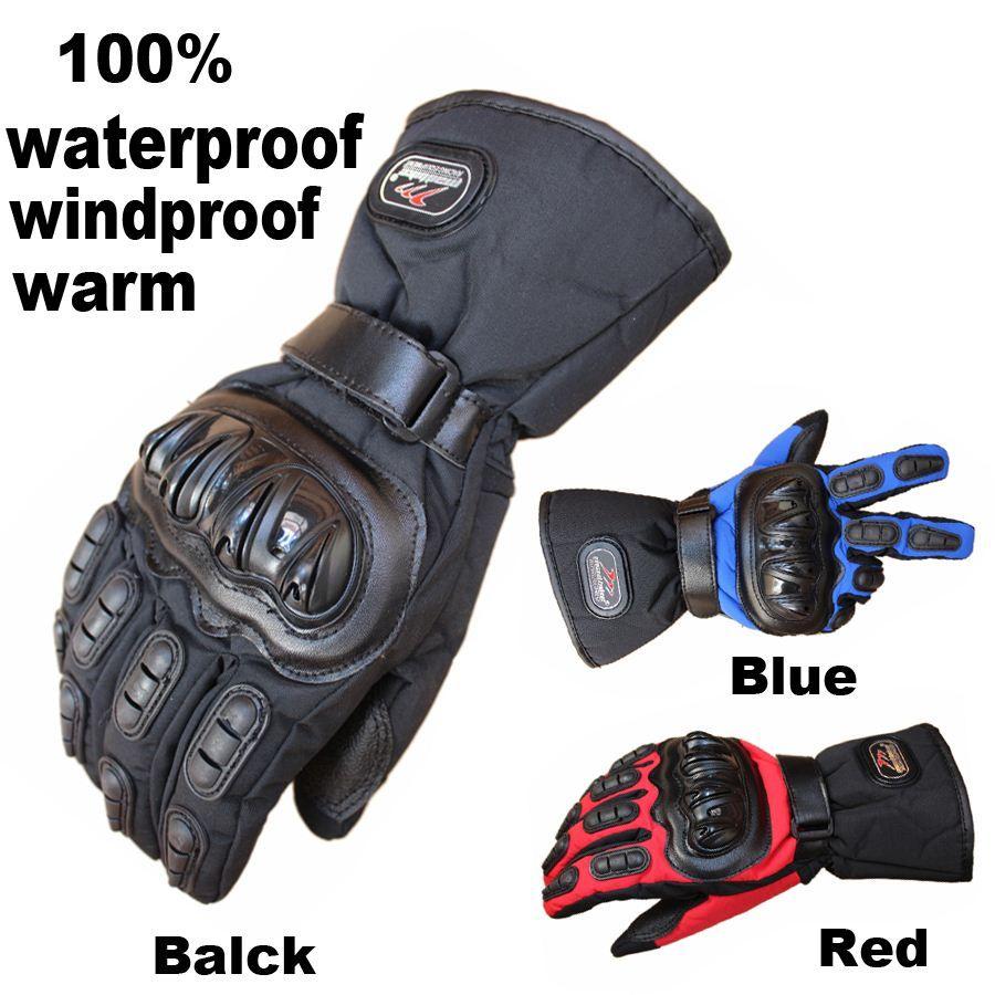 Motorcycle leather gloves waterproof - Mad Biker Motorcycle Gloves Winter Warm Waterproof Windproof Protective Gloves 100 Waterproof Guantes Luvas