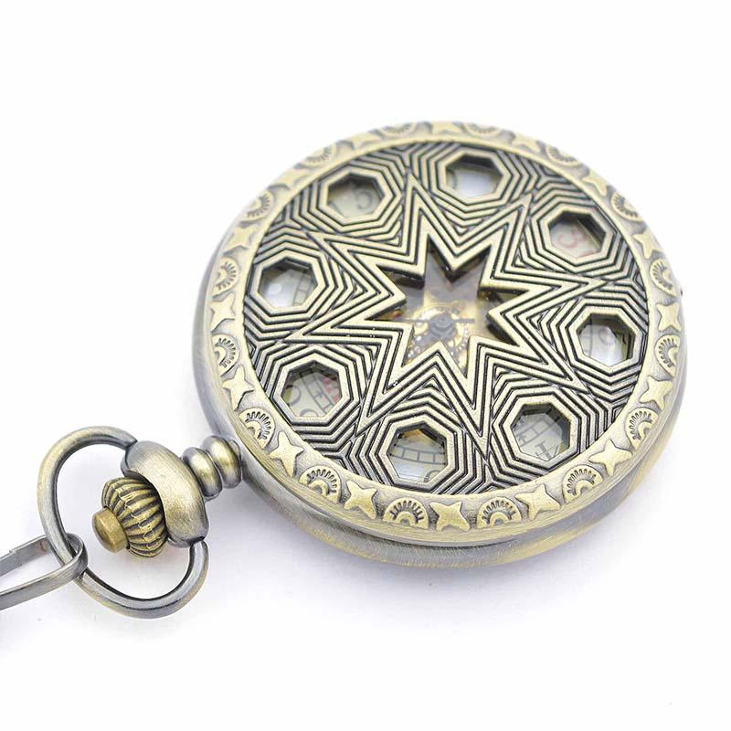 hole see thoght case mechanical pocket watch chains hand hole see thoght case mechanical pocket watch chains hand winding up 17 crystals movement 5