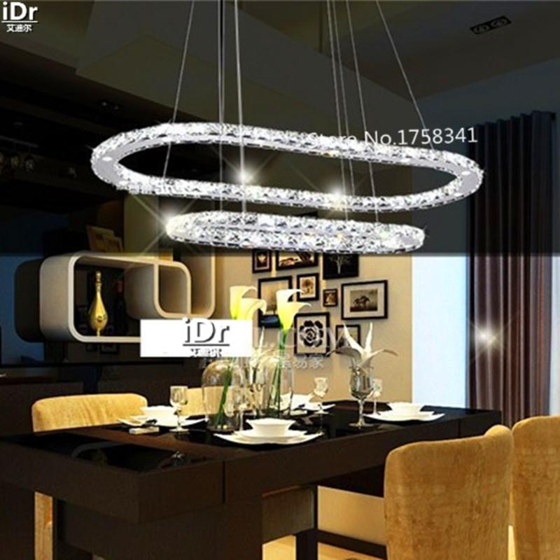 Art Led Lamps Restaurant Crystal Chandelier Circular Bedroom ...