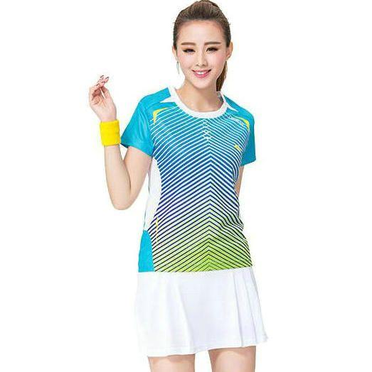 2018 Women Badminton T Shirt Professional Girl Sport Wear High Quality Summer Tennis Clothing ...