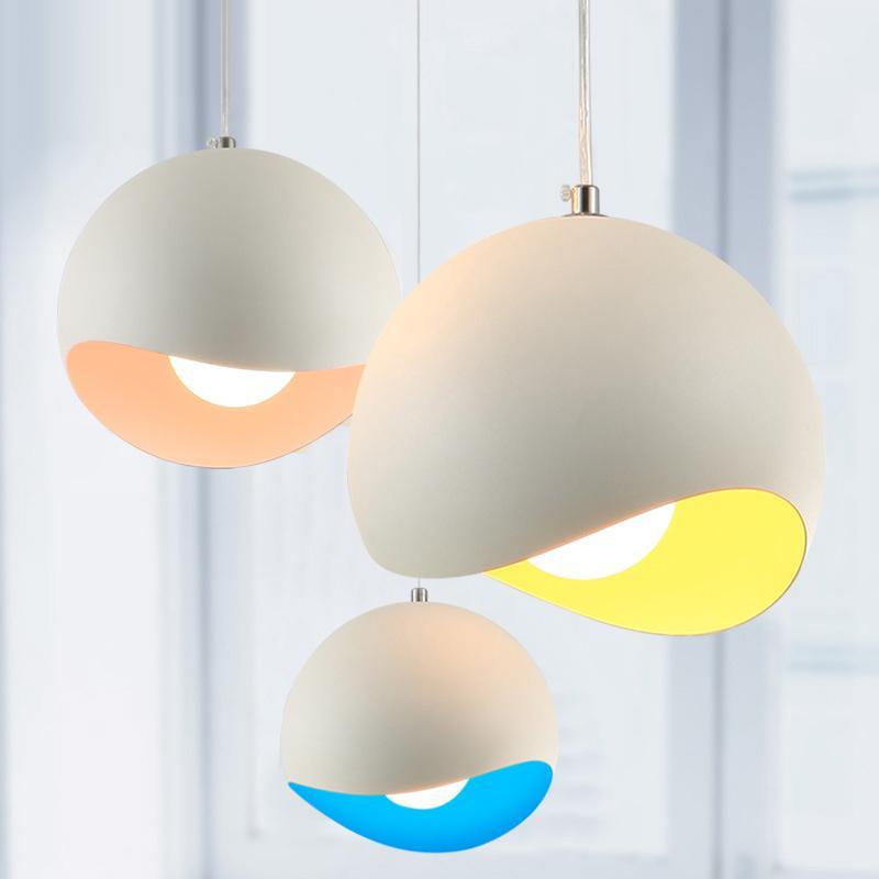new modern colored pendant lights kitchen restaurant