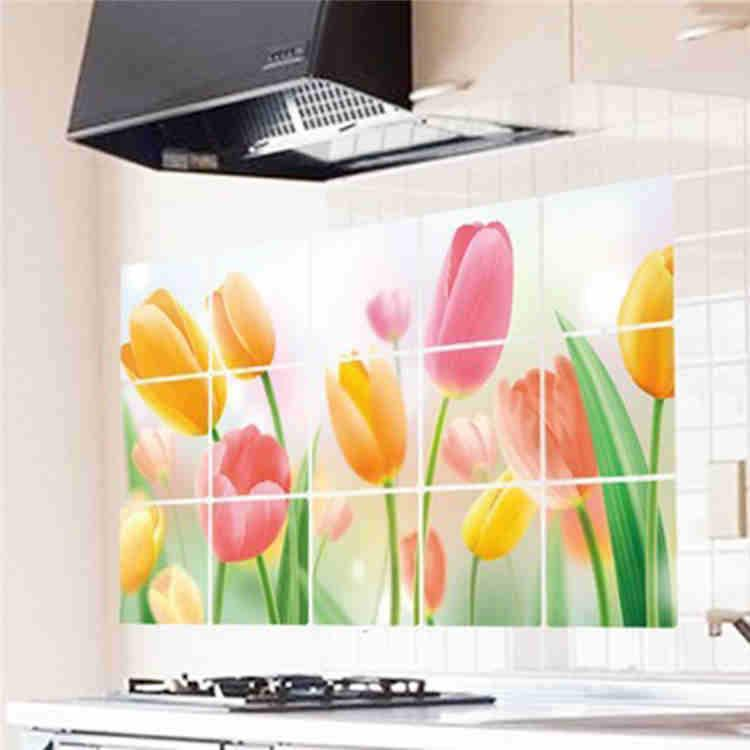 tulips kitchen wall stickers ceramic tile stickers home decor tulip wall sticker kitchen wall stickers free