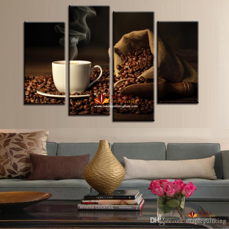 2017 large canvas painting modern printed coffee canvas - Kitchen canvas wall decor ...