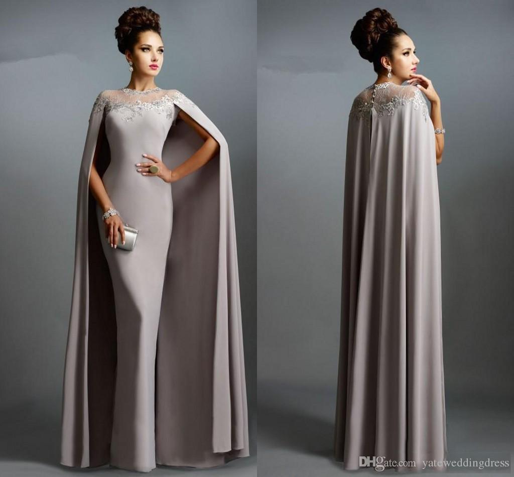 Noble Arabia Vintage Evening Dresses Jewel Sheer Neck With Watteau ...