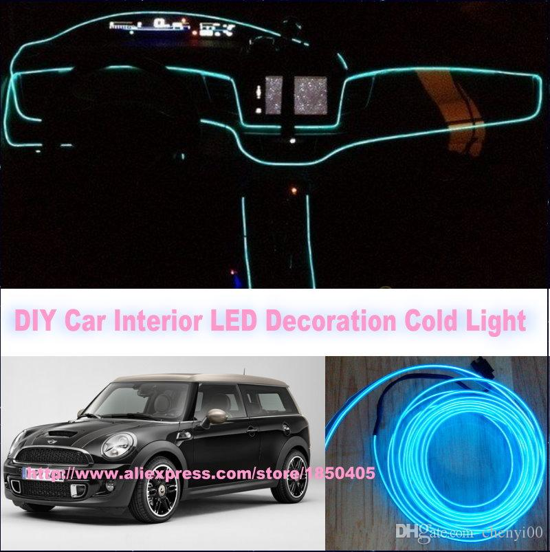 for mini clubman convertible countryman diy 9 meters 12v car el cold light led interior. Black Bedroom Furniture Sets. Home Design Ideas