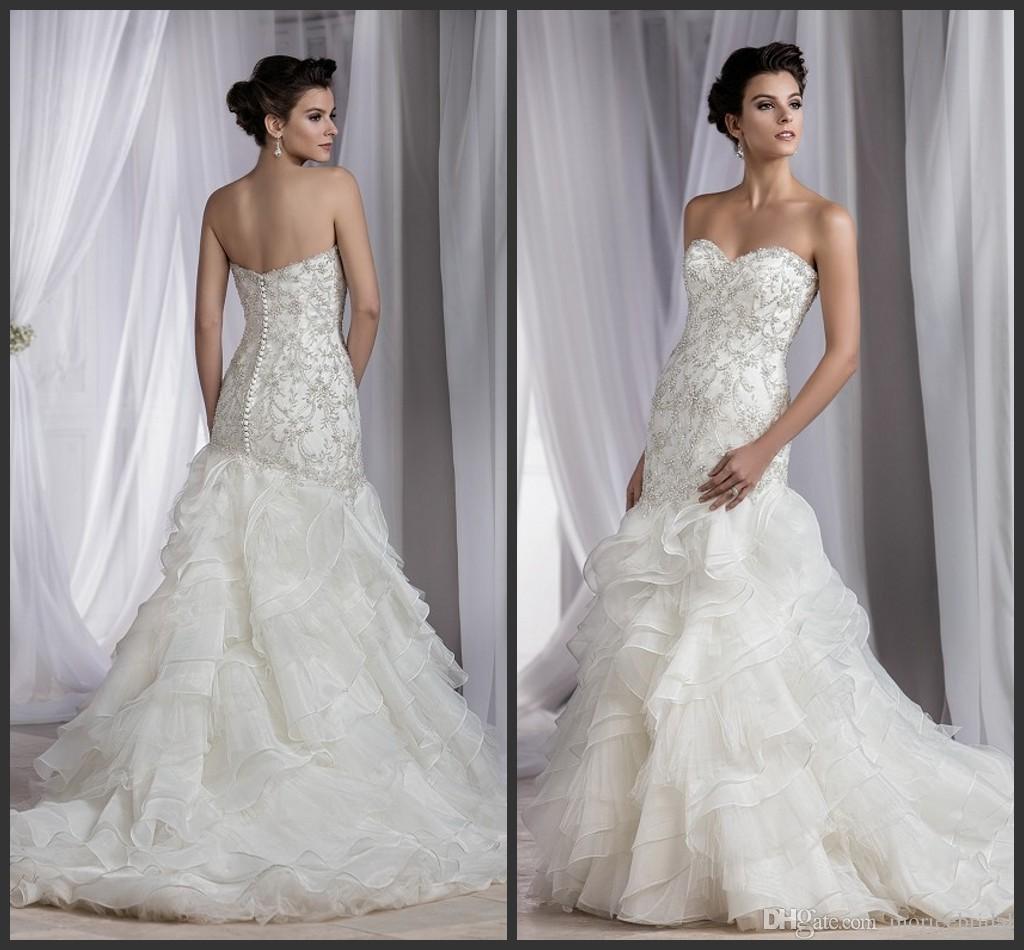 Gorgeous Beaded Mermaid Wedding Dresses 2016 Sweetheart