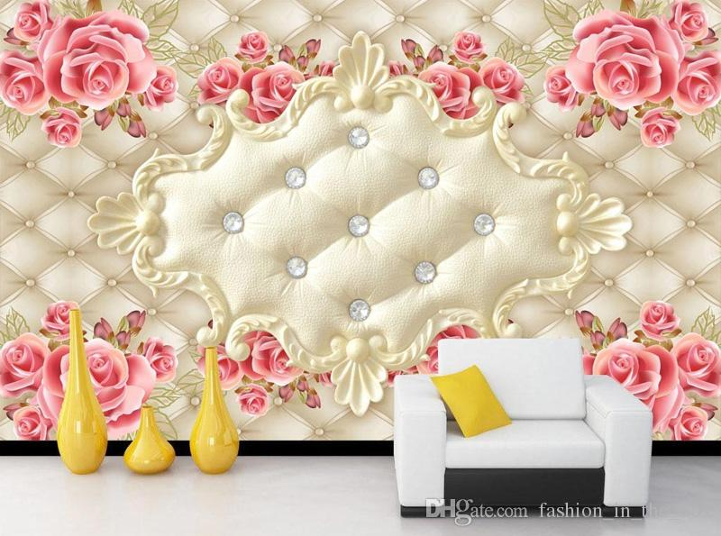 Luxury 3d Wallpaper Elegant Photo Rose Flower