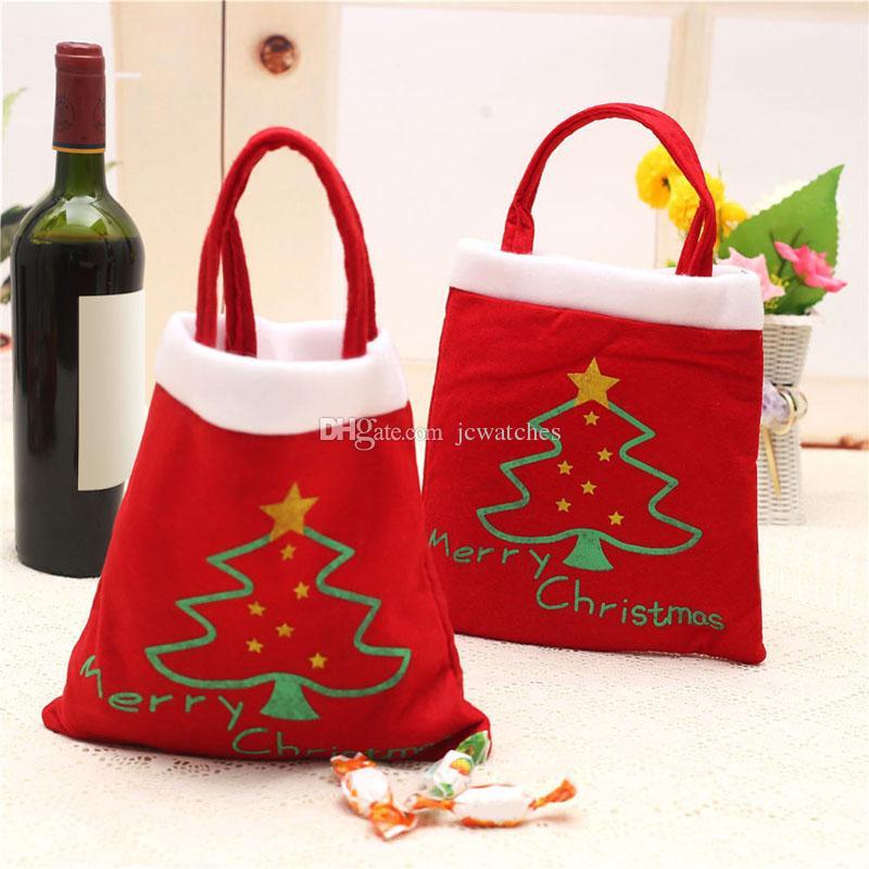 Christmas tree pattern candy bag santa claus handbag home