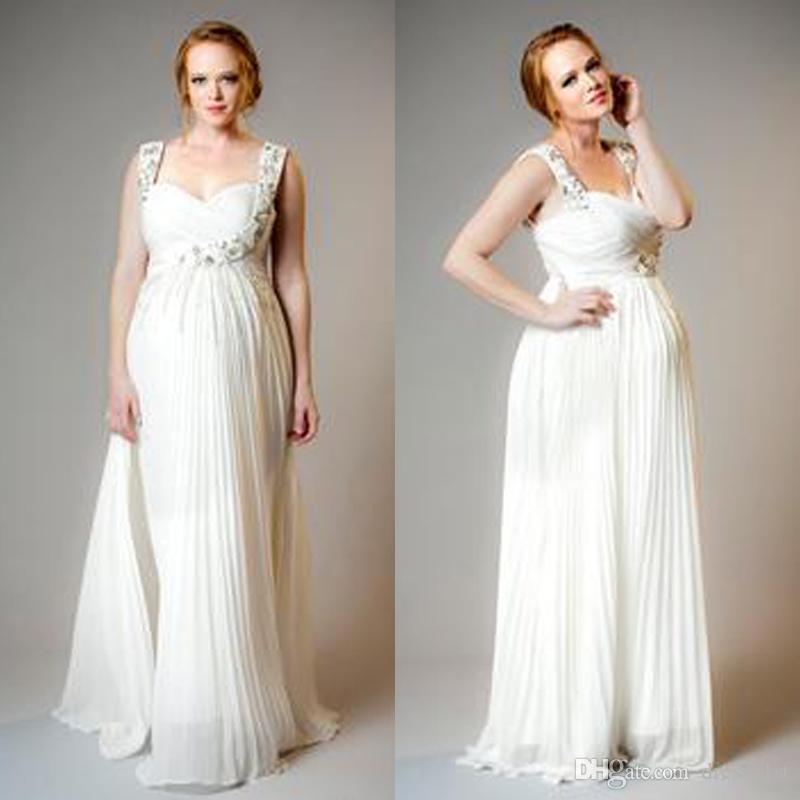 Plus size maternity wedding dresses empire 2016 cheap for Plus size maternity wedding dresses cheap