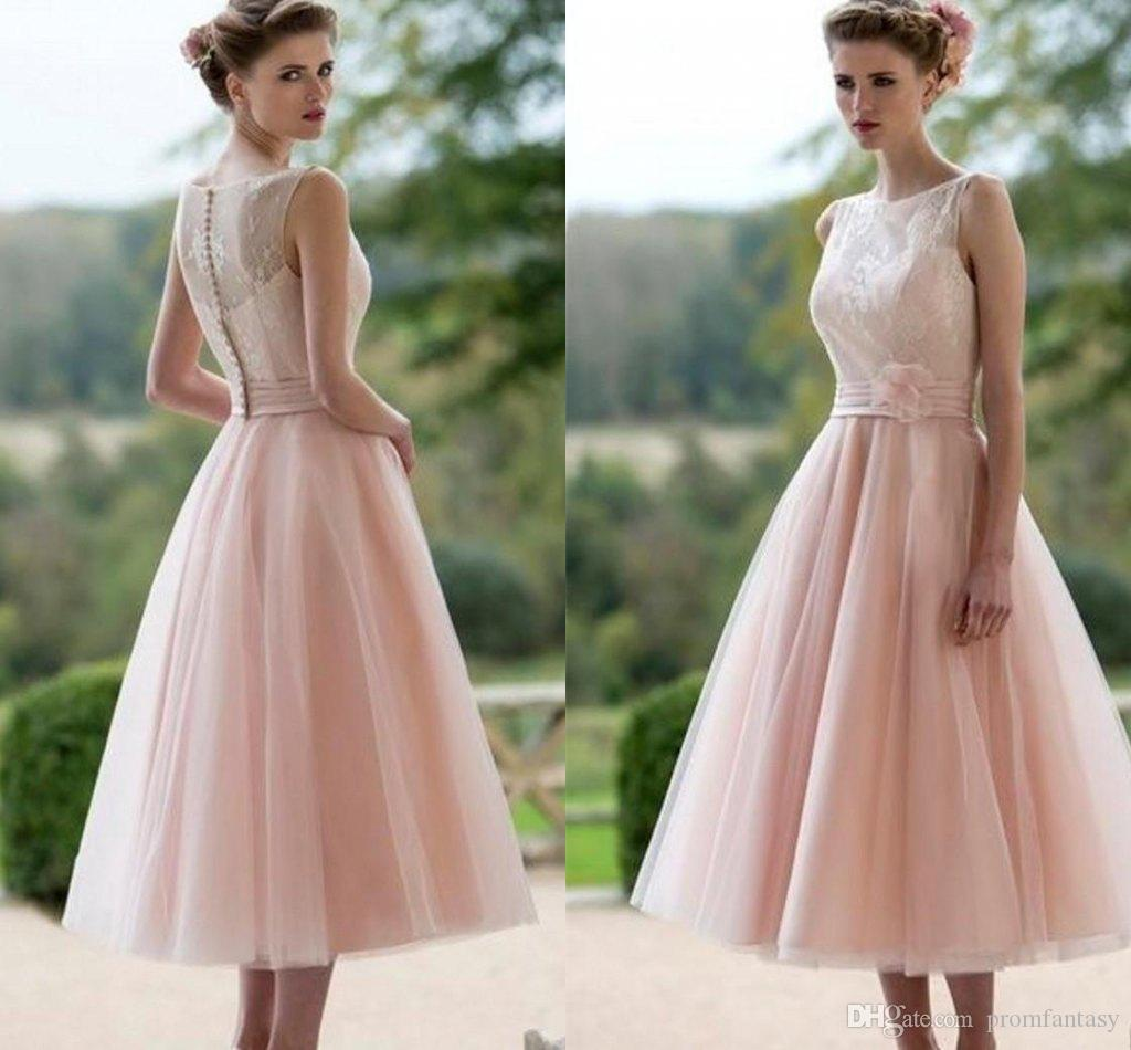 Beach Wedding Dresses 2017 Guest : Line beach informal bridal reception guest gowns for wedding