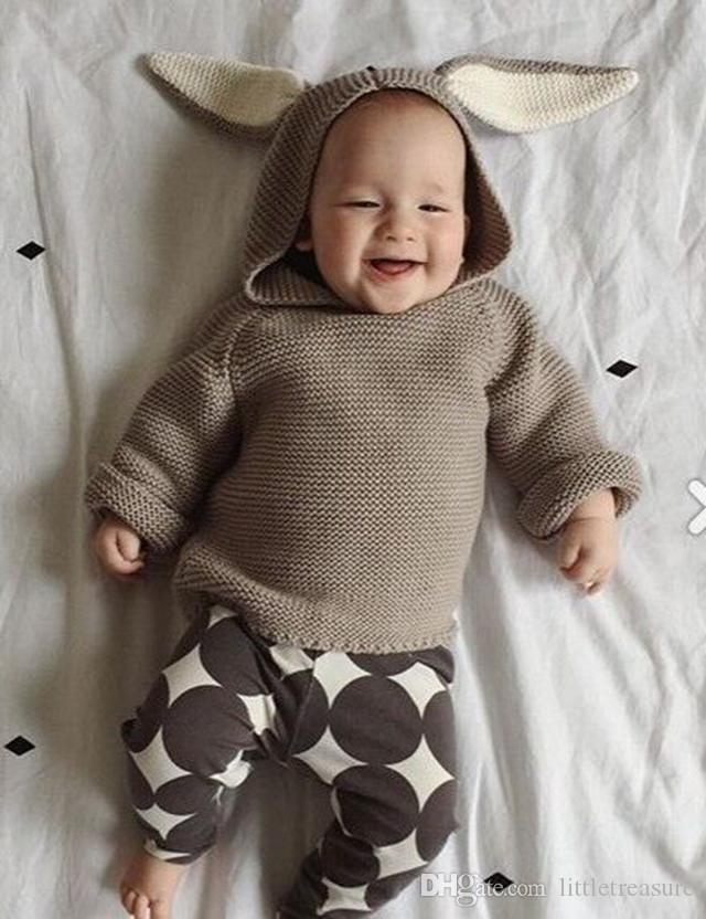 Kids Sweaters Toddler Cute Bunny Knit Pullover Cartoon Baby Pullover Vêtements A