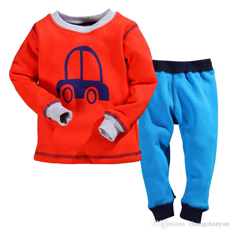 2017 Organic Cotton Boys Thermal Underwear Pajamas Elsa Sets ...