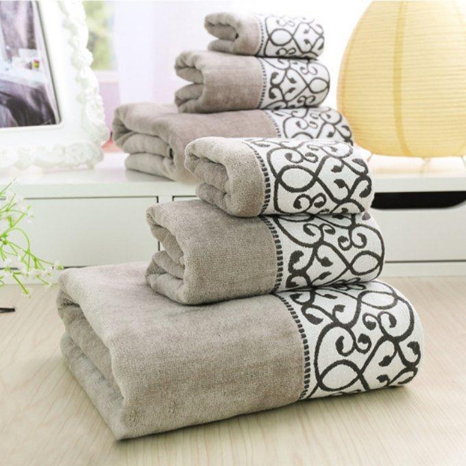 Decorative Luxury Cotton Bath Towels Sets For AdultsElegant - Luxury bath towel sets for small bathroom ideas