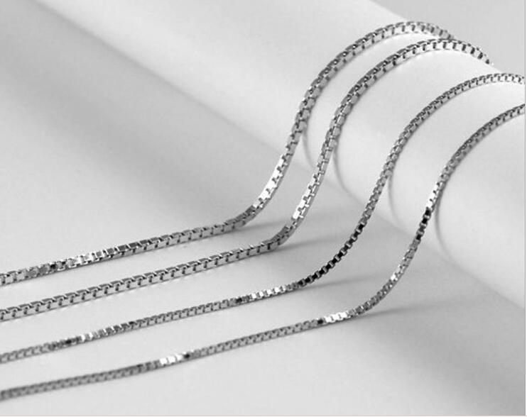 2017 box chain 18 inches 925 stamp silver white 2 years for Jh jewelry guarantee 2 years