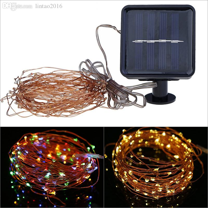 Solar Mini Lights On String : 10m 100leds Solar Powered Led String Mini Led Copper Wire String Fairy Light Christmas Home ...
